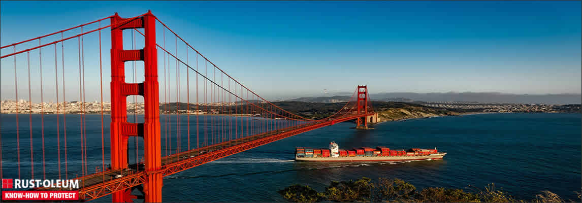 San Francisco a choisi Rust-Oleum pour la protection du Golden Gate Bridge